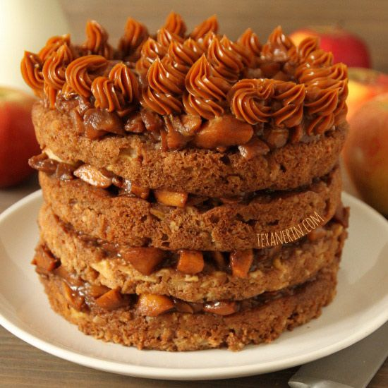 Apple Blondie Cake – a cake made out of layers of 100% whole grain ...