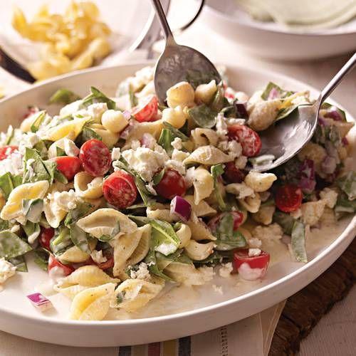 Creamy Mediterranean Pasta Salad | Side Dishes | Pinterest