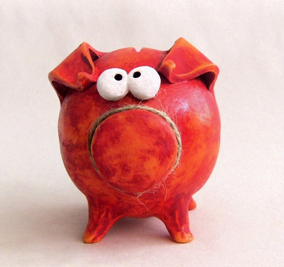 Ceramic handmade piggy bank home pinterest for Handmade coin bank