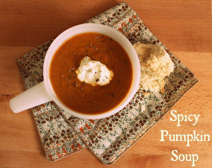 Spicy pumpkin soup! | Fall Favourites | Pinterest