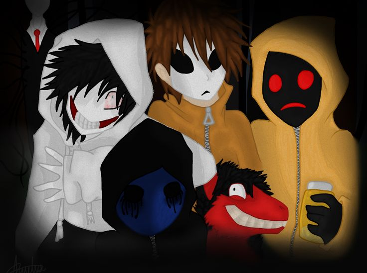 Jeff, masky and hoodie, eyeless jack, smile.jpg ...