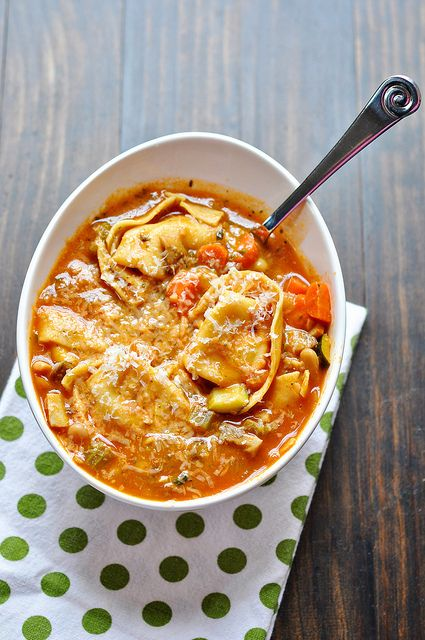 Tortellini Minestrone by Cook Like a Champion, via Flickr