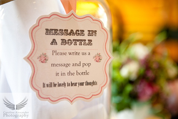 message in a bottle wedding ideas - Wedding Decor Ideas