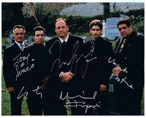 Autographs The Sopranos Tv Cast Photograph Signed Co Signed By