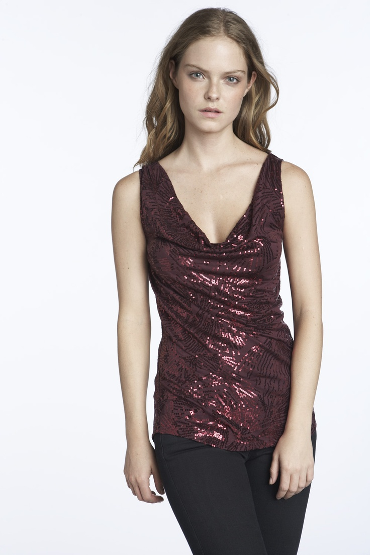 Mintee sequin tank top velvet by graham amp spencer holiday 2012