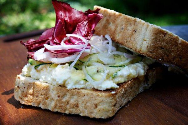 Ricotta, Zucchini and Radicchio Sandwich   Recipe