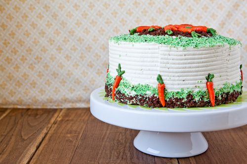 Spice & Brownie Layer Cake with Whipped Cream & Cream Cheese Frosting...