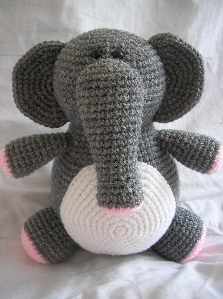 Crochet Elephant Pattern : Eleanor the Elephant - Amigurumi Crochet PATTERN ONLY (PDF)
