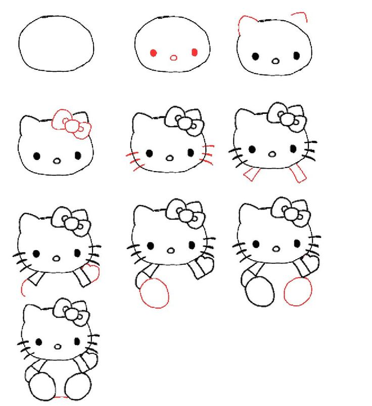 Hello Kitty ~ learn to draw