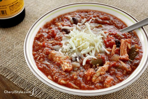 ... hearty texture of our quinoa chicken chili! Fix it, forget it and feed