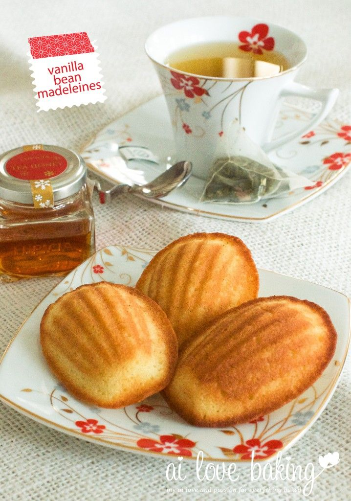 Vanilla Bean Madeleines | Cookies | Pinterest