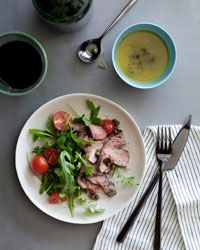 ... and Arugula Salad with Mustard Caper Vinaigrette Recipe on Food & Wine