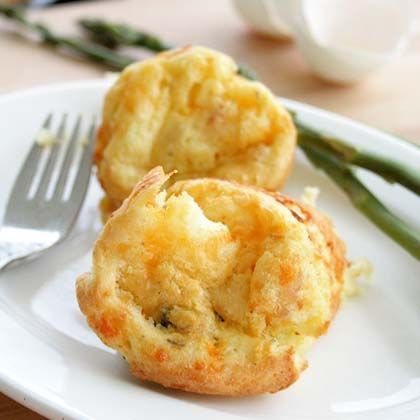 Sausage, Potato, and Asparagus Popovers