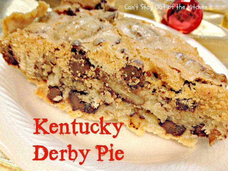 Kentucky Derby Pie - Recipe Pix 20 168 | Recipes | Pinterest