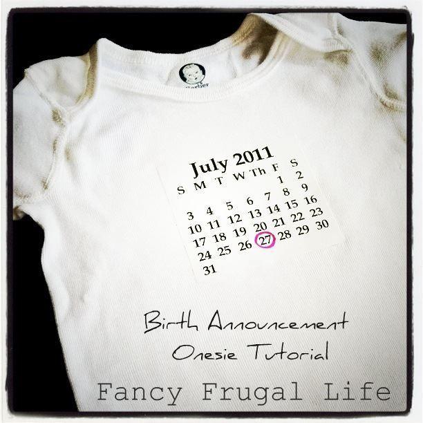 Birth Announcement Onesie Tutorial!