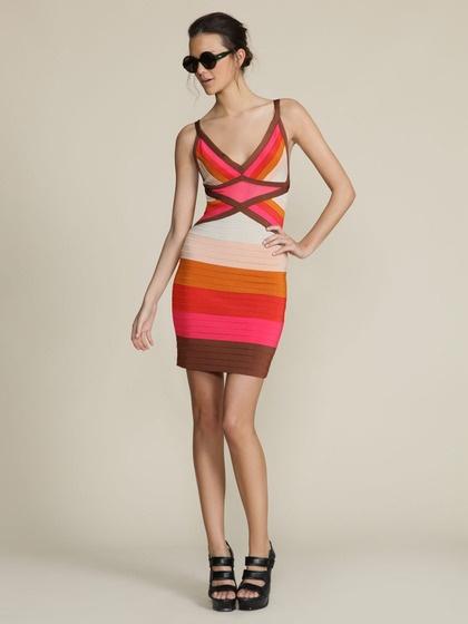 M Missoni  Knit Color Block Dress