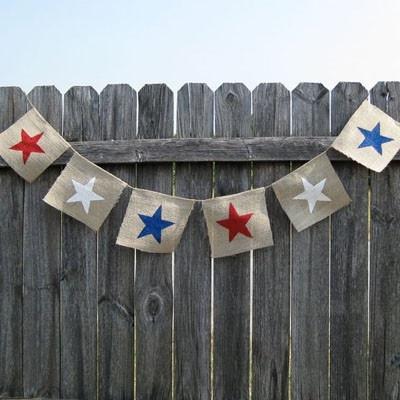 blue star red star flag