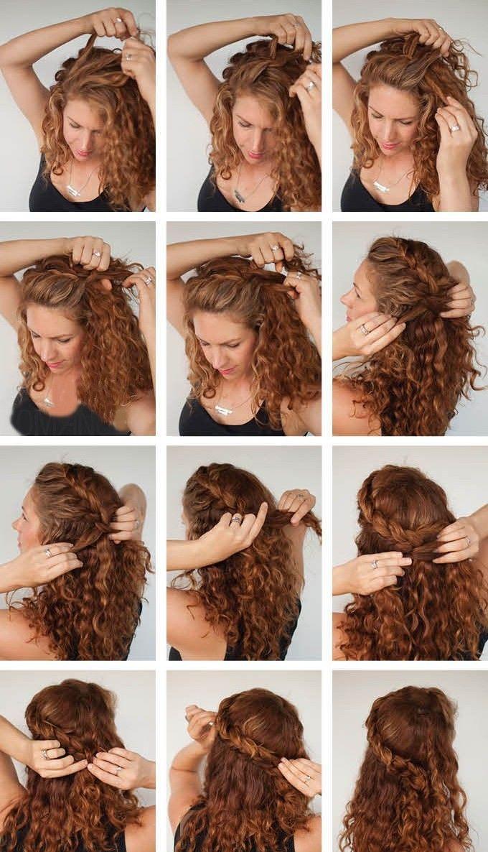 Как можно сделать прическу из волнистых волос 164