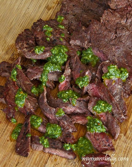 Simple Skirt Steak with Chimichurri Sauce - An Easy Dinner Recipe
