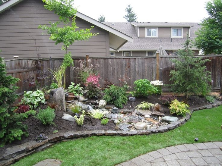 Corner Lot Landscaping With Stones Outdoors Pinterest