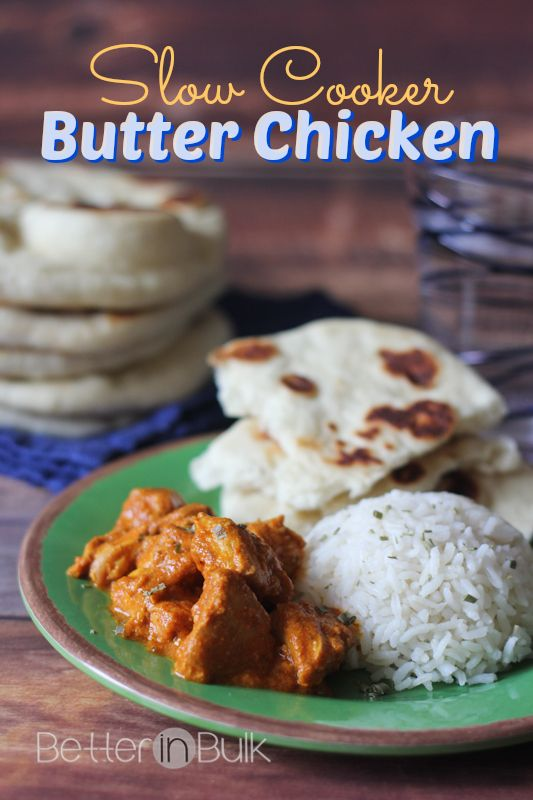 Slow Cooker Butter Chicken and Naan | Recipe