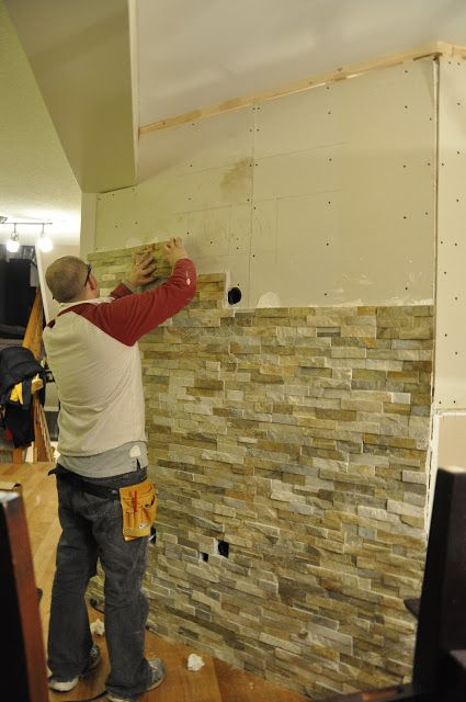 This little estate feature wall for the home pinterest for Feature wall tile ideas