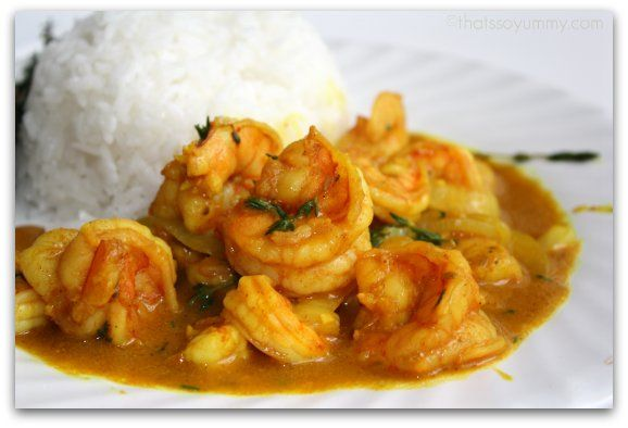 Curry shrimp white rice | I Jamaican Food | Pinterest