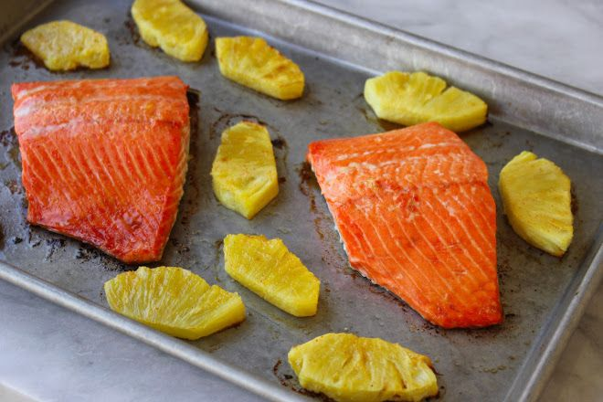 sweet and spicy pineapple salmon | for eating | Pinterest