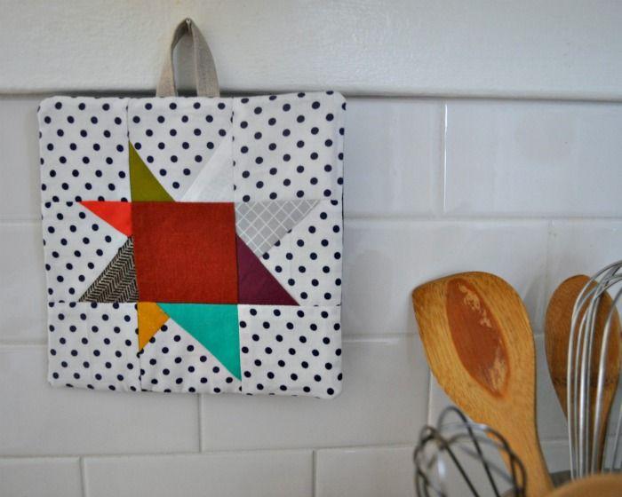 Wonky Star Potholder