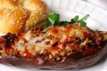 Sausage Stuffed Eggplant | Pork | Pinterest
