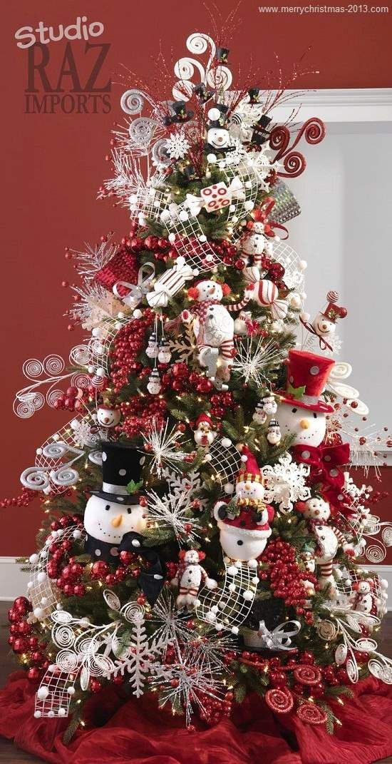 Christmas Tree Decorations On Pinterest Christmas Decorating