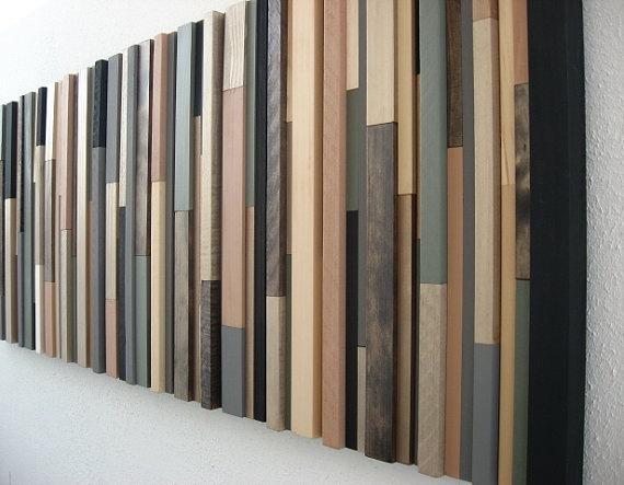 Reclaimed Wood Art Wall Sculpture Rustic