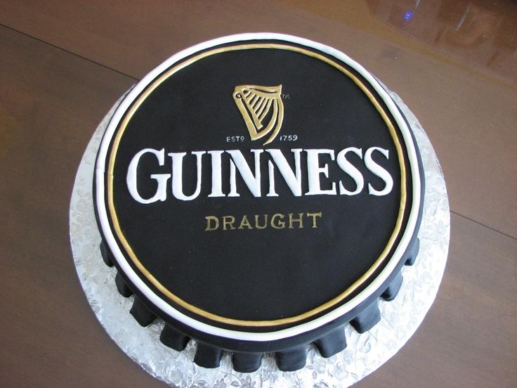 Guinness Logo Cake Topper