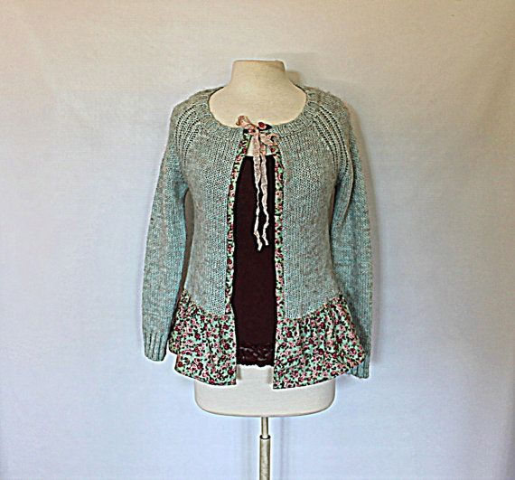 Women s Sweater Upcycled Clothing French by AmadiSloanDesigns, $41.00
