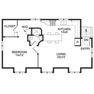 Real life garage loft apartment for Garage floor plans with loft