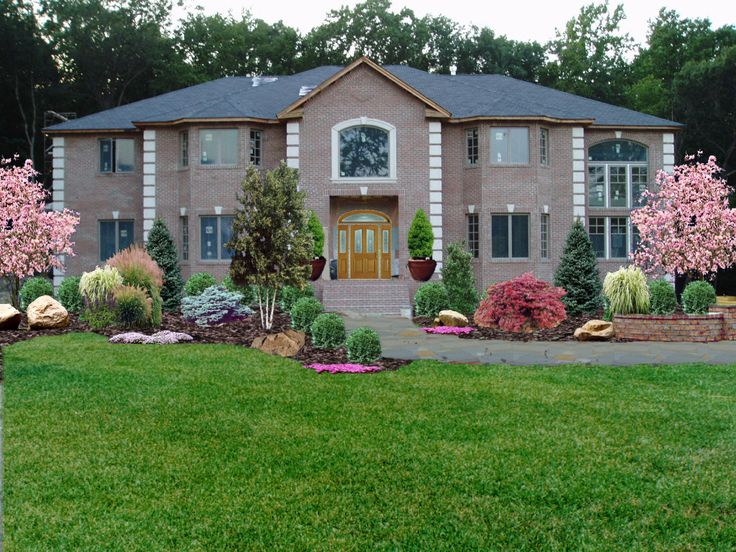 Low maintenance front yard landscaping new jersey for New home landscaping plans