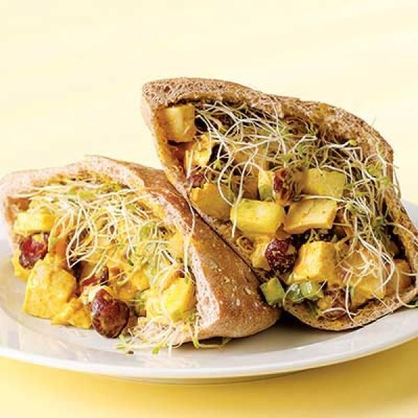 ... Pitas Recipe http://www.kitchendaily.com/recipe/curried-chicken-pitas