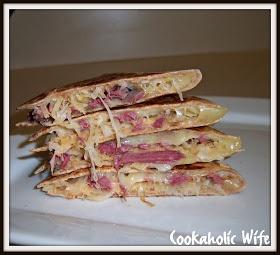 Cookaholic Wife: Reuben Quesadillas | Appetizers/Snacks/Dips/Sauces ...