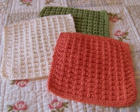 Free Dish Rag Knitting Patterns : Nice knit dish rag Knit Pinterest