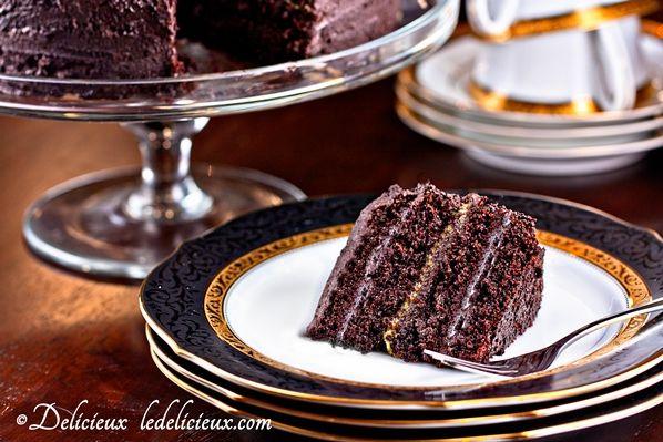 beautiful chocolate orange layer cake recipe layered with chocolate ...