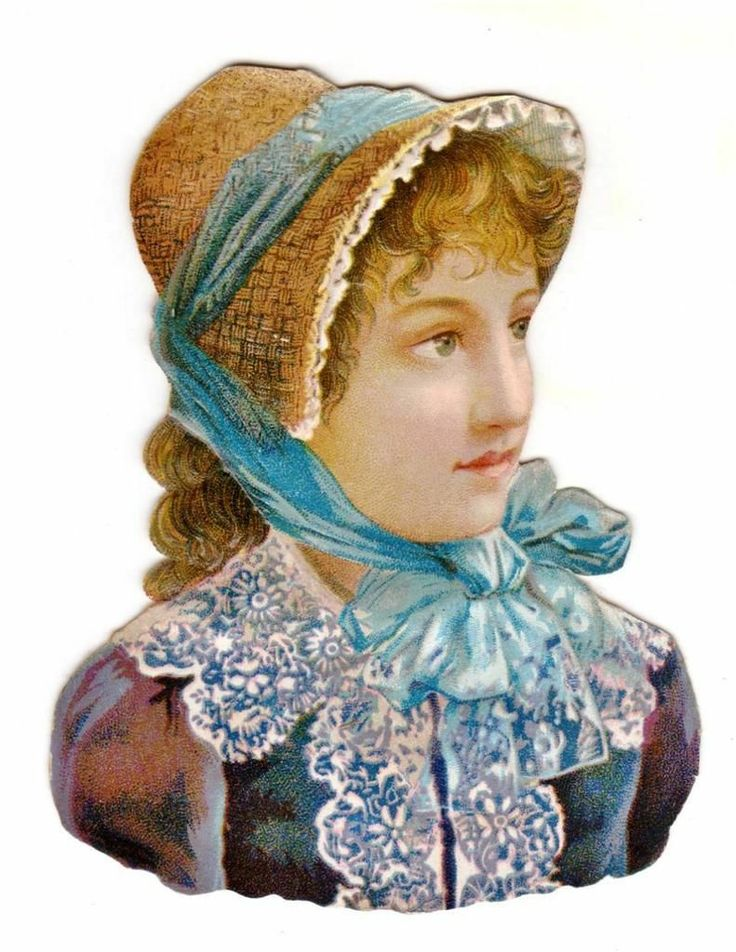 CA 1880s Beautiful Woman Wearing A Bonnet Die Cut Litho Victorian Scrap | eBay