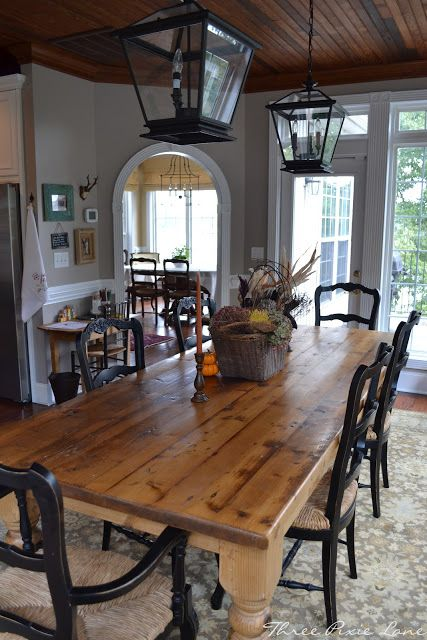 Country Farmhouse Dining Room For The Home Pinterest