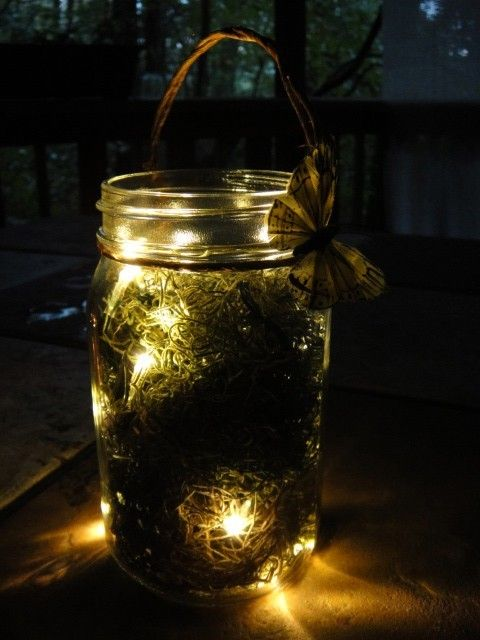 firefly latern 5 battery operated mason jar. Black Bedroom Furniture Sets. Home Design Ideas