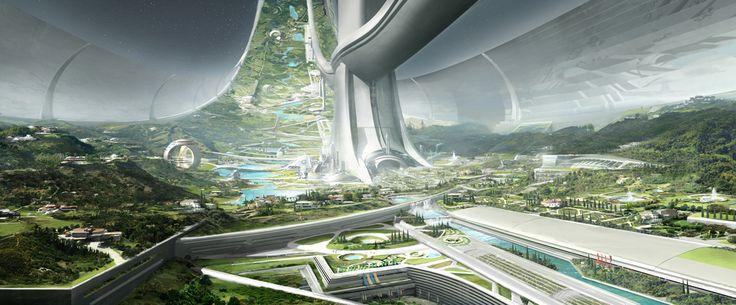 Elysium space station design