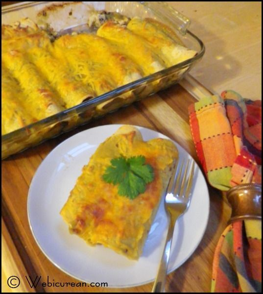 Turkey and Black Bean Enchiladas #SundaySupper