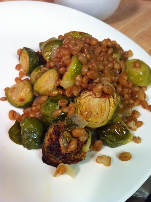 Lemony Wheat Berry and Brussel Sprout Salad (A Seat at the Table)