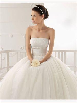 Short Sash Tulle 2014 Wedding Dresses  Dream Wedding Dresses  Pinte ...