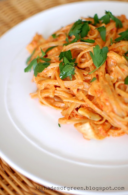 Goat Cheese & Roasted Red Pepper Pasta | Yummy food | Pinterest