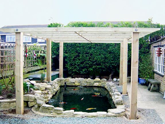 Pin by tom bradley on ponds gardening pinterest for Koi pond shade ideas