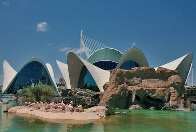 Oceanografic Aquarium, Valencia, Spain Biggest aquarium in Europe. I ...